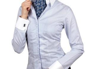 Выбираем женскую рубашку под запонки