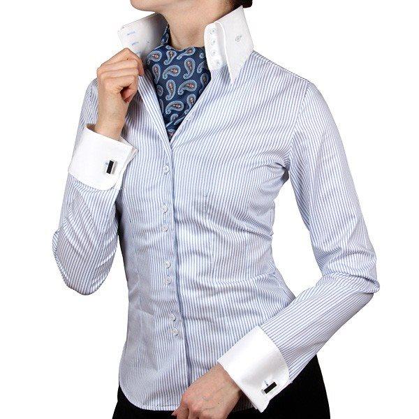 be3305fb816 Выбираем женскую рубашку под запонки